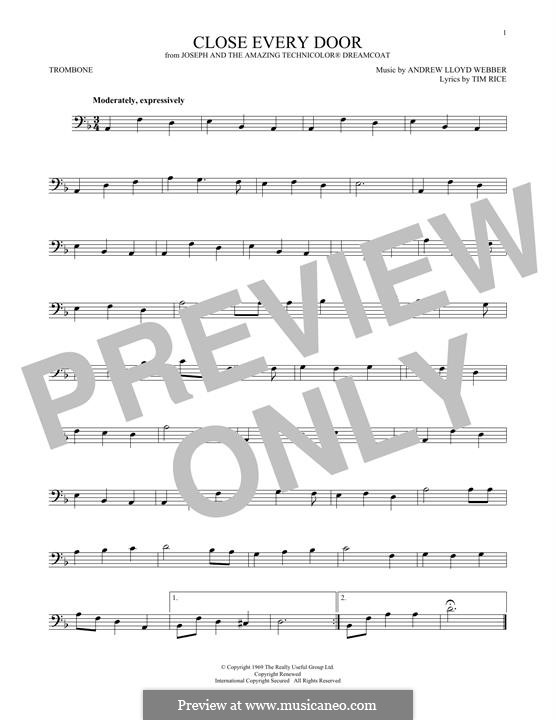 Close Every Door: For trombone by Andrew Lloyd Webber