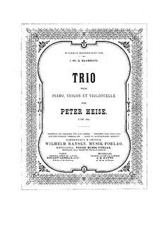Piano Trio in E Flat Major: Full score by Peter Heise