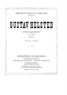 String Quartet in F Minor, Op.33: Violin I part by Gustav Helsted