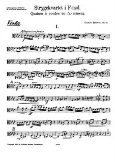 String Quartet in F Minor, Op.33: Viola part by Gustav Helsted