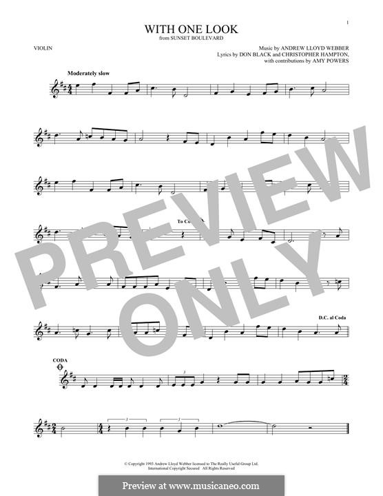 With One Look: For violin by Andrew Lloyd Webber