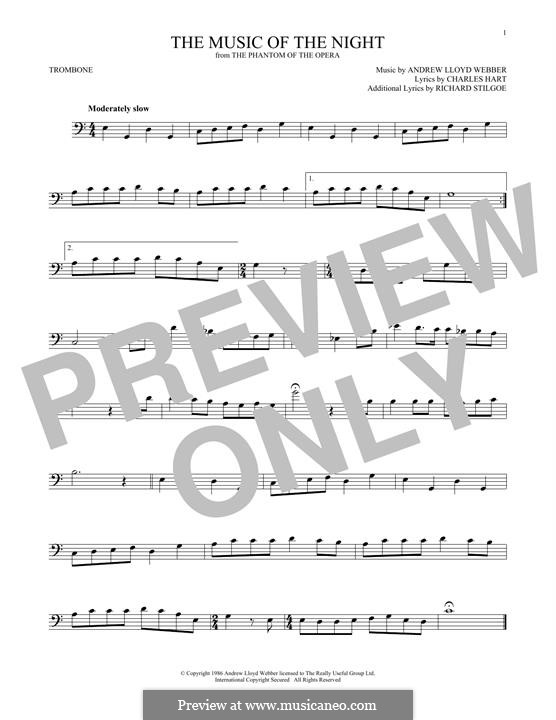 The Music of the Night, instrumental version: For trombone by Andrew Lloyd Webber
