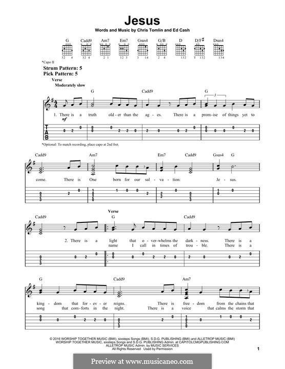 Jesus: For guitar with tab by Chris Tomlin, Ed Cash