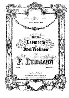 Capriccio No.3 for Three Violins, Op.13: Violin III part by Friedrich Hermann