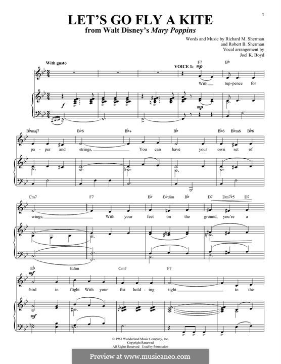 Let's Go Fly a Kite: For voice and piano by Richard M. Sherman, Robert B. Sherman