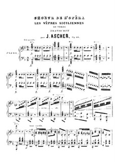 The Sicilian Vespers: Choir. Arrangement for piano by Giuseppe Verdi