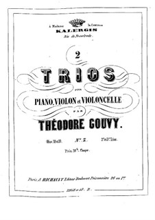 Piano Trio No.3 in B Flat Major, Op.19: Full score by Louis Théodore Gouvy