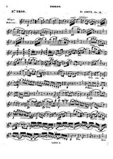 Piano Trio No.3 in B Flat Major, Op.19: Violin part by Louis Théodore Gouvy