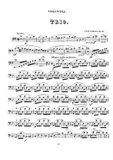 String Trio in G Minor, Op.48: Cello part by Carl Georg Peter Grädener