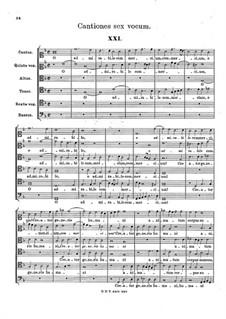 Cantiones six vocum: Cantiones six vocum by Hans Leo Hassler