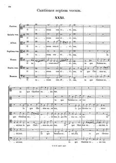 Cantiones septem vocum: Cantiones septem vocum by Hans Leo Hassler