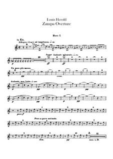 Zampa, ou La fiancée de marbre (Zampa, or the Marble Bride): Overture – french horns part by Ferdinand Herold