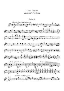Zampa, ou La fiancée de marbre (Zampa, or the Marble Bride): Overture – violins II part by Ferdinand Herold