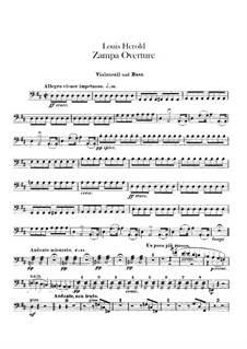 Zampa, ou La fiancée de marbre (Zampa, or the Marble Bride): Overture – cello and double bass part by Ferdinand Herold