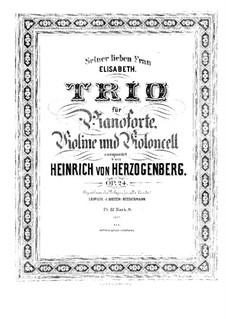 Piano Trio No.1 in C Minor, Op.24: Full score by Heinrich von Herzogenberg