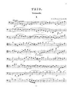 Piano Trio No.1 in C Minor, Op.24: Cello part by Heinrich von Herzogenberg