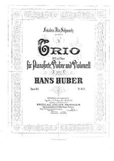 Piano Trio No.3, Op.105: Full score by Hans Huber