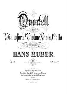 Piano Quartet No.1 in B Flat Major, Op.110: Violin part by Hans Huber
