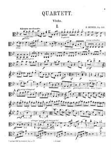 Piano Quartet No.1 in B Flat Major, Op.110: Viola part by Hans Huber