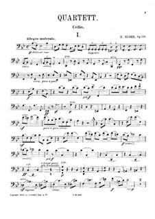 Piano Quartet No.1 in B Flat Major, Op.110: Cello part by Hans Huber