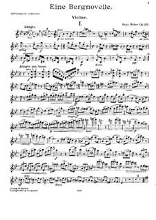 Piano Trio No.4, Op.120: Violin part by Hans Huber