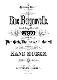 Piano Trio No.4, Op.120: Full score by Hans Huber