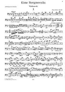 Piano Trio No.4, Op.120: Cello part by Hans Huber
