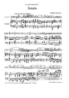 Sonata for Cello and Piano in D Major: Sonata for Cello and Piano in D Major by William Yeates Hurlstone