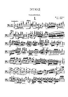 Twenty-One Etudes for Cello: Etude No.1 in F Major by Jean-Louis Duport