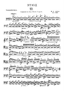 Twenty-One Etudes for Cello: Etude No.10 in A Major by Jean-Louis Duport