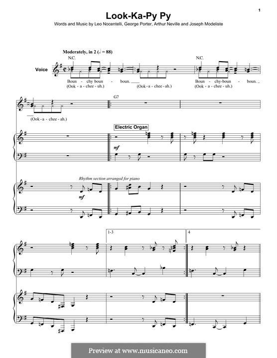 Look-Ka-Py Py (The Meters): For voice and organ by Arthur Neville, George Porter, Joseph Modeliste Jr., Leo Nocentelli