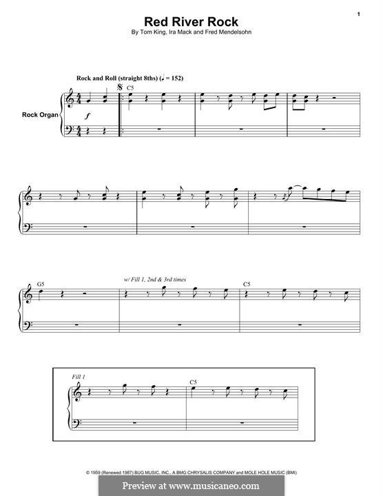 Red River Rock (Johnny & The Hurricanes): For organ by Ira Mack, Tom King, Fred Mendelsohn