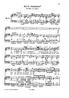Ad te clamamus: Arrangement for voice and piano by Johann Adolph Hasse