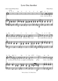 Love One Another (1 John 4): Piano-vocal score by Wendy Pixner