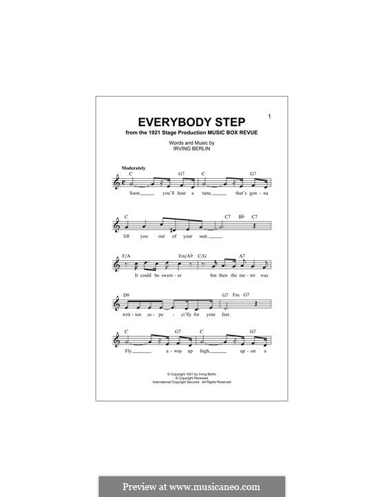 Everybody Step: Melody line by Irving Berlin