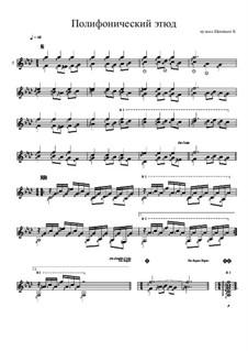Полифонический этюд: Полифонический этюд by Konstantin Schenitsyn