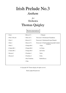 Irish Prelude No.3 (Anthem): Irish Prelude No.3 (Anthem) by Thomas Quigley