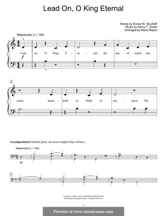 Lead on, o King Eternal: For piano by Henry Smart
