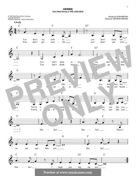 Herbie: Melody line by George Bruns