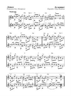 Летом, Op.10-а: Для дуэта гитар by Oleg Kopenkov