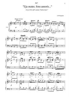 Stabat Mater: No.7 Eja mater, fons amoris... by Giovanni Battista Pergolesi