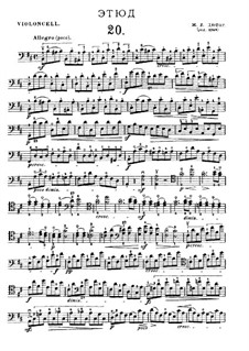 Twenty-One Etudes for Cello: Etude No.20 in B Minor by Jean-Louis Duport