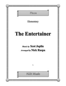 The Entertainer, for Piano: Elementary version by Scott Joplin