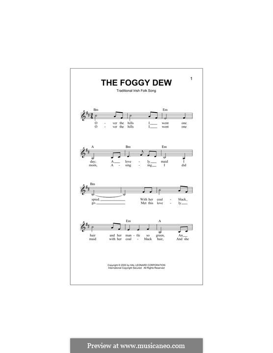 The Foggy Dew: Melody line by folklore