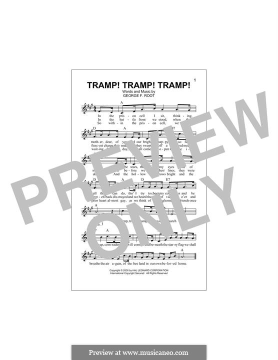 Tramp! Tramp! Tramp! (The Prisoner's Hope): Melody line by George Frederick Root