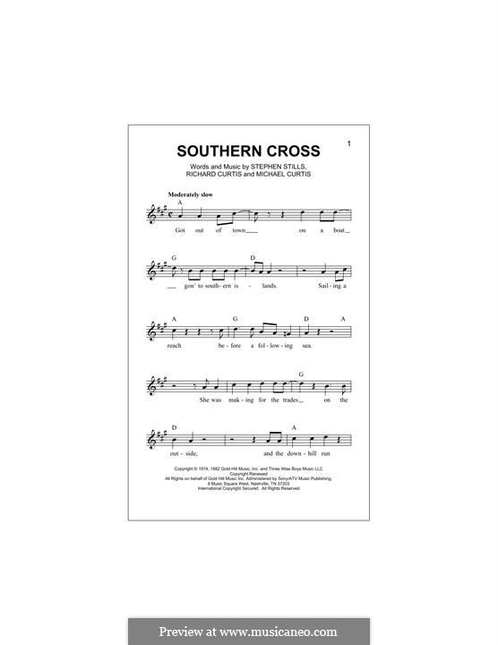 Southern Cross (Crosby, Stills & Nash) by M. Curtis, R. Curtis, S ...