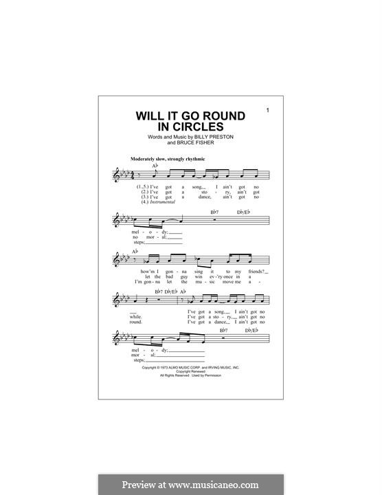 Will It Go Round in Circles (Billy Preston): Melody line by Bruce Fisher