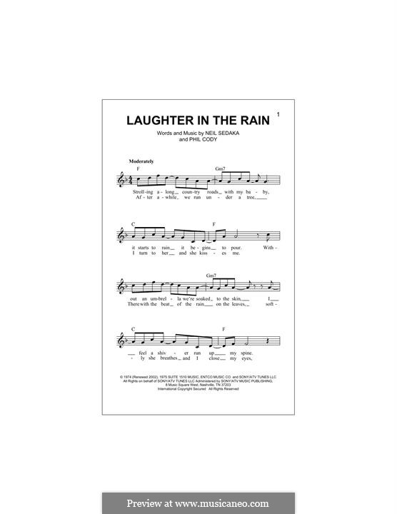 Laughter in the Rain: Melody line by Philip Cody