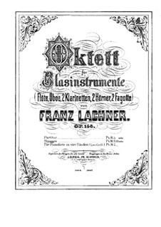 Woodwind Octet, Op.156: Oboe Part by Franz Paul Lachner