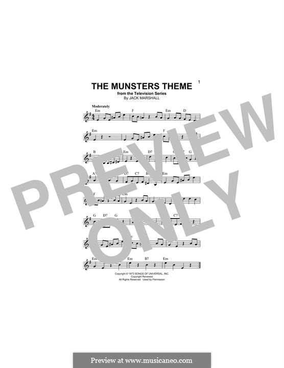 The Munsters Theme: Melody line by Jack Marshall